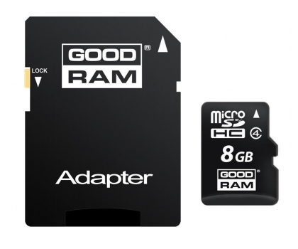GOODRAM 8GB microSDHC zapis 5MB/s odczyt 15MB/s -303118 - Zdjęcie 1