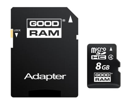 GOODRAM 8GB microSDHC zapis5MB/s odczyt15MB/s+adapter-303118 - Zdjęcie 2