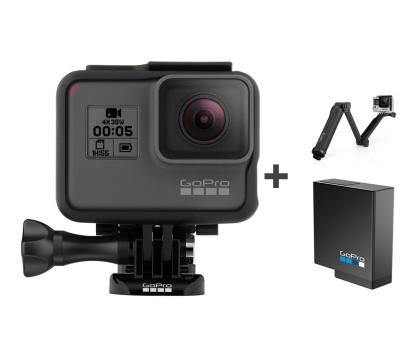 GoPro HERO5 Black + Uchwyt 3-Way + Akumulator -394949 - Zdjęcie 1