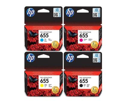 HP Zestaw 4tuszów 655 CZ109AE+CZ110AE+CZ111AE+CZ112AE-162406 - Zdjęcie 1