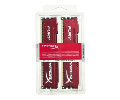 HyperX 16GB 1866MHz Fury Red CL10 (2x8192)-180547 - Zdjęcie 2