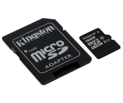 Kingston 16GB microSDHC Class10 zapis 10MB/s odczyt 45MB/s-263186 - Zdjęcie 2