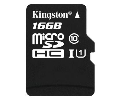 Kingston 16GB microSDHC Class10 zapis 10MB/s odczyt 45MB/s-263186 - Zdjęcie 1