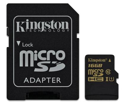 Kingston 16GB microSDHC Class10 zapis 45MB/s odczyt 90MB/s-185516 - Zdjęcie 1