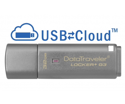 Kingston 32GB DataTraveler Locker+ G3 (USB 3.0) 135MB/s-169209 - Zdjęcie 2