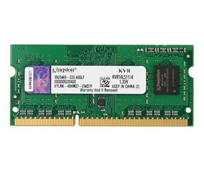 Kingston 4GB 1600MHz CL11 DDR3L 1.35V-81524 - Zdjęcie 1