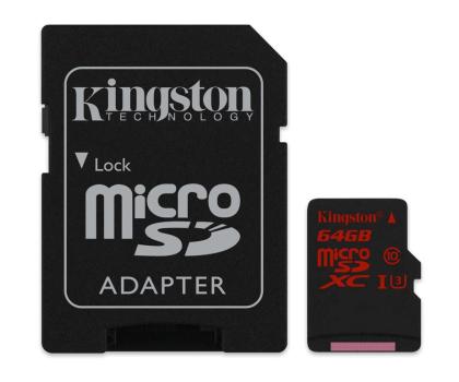 Kingston 64GB microSDXC UHS-I U3 zapis 80MB/s odczyt 90MB/s-219778 - Zdjęcie 3