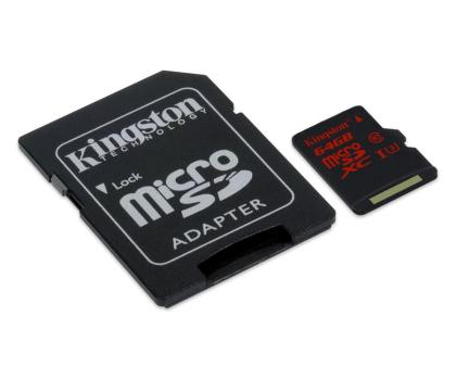 Kingston 64GB microSDXC UHS-I U3 zapis 80MB/s odczyt 90MB/s-219778 - Zdjęcie 2