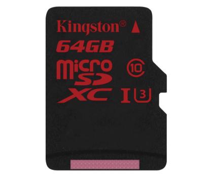 Kingston 64GB microSDXC UHS-I U3 zapis 80MB/s odczyt 90MB/s-219778 - Zdjęcie 1