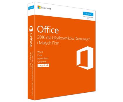 Microsoft Office 2016 dla Użytk. Domowych i Małych Firm -260266 - Zdjęcie 1