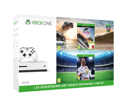 Microsoft Xbox ONE S 500GB+Horizon 3+Pad+FIFA 18+ GOLD 6M-387057 - Zdjęcie 2