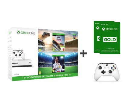 Microsoft Xbox ONE S 500GB+Horizon 3+Pad+FIFA 18+ GOLD 6M-387057 - Zdjęcie 1