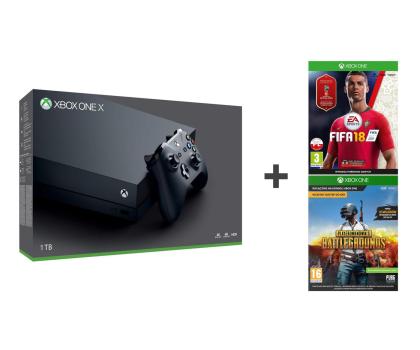 Microsoft Xbox One X 1TB + Fifa 18 + PUBG-442271 - Zdjęcie 1