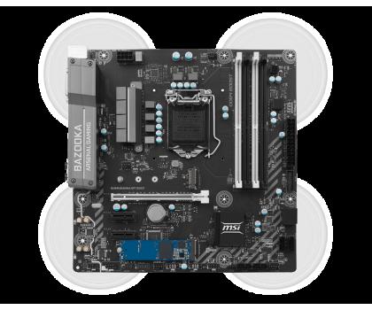 MSI B250M BAZOOKA OPT + i5-7400 + Crucial 8GB 2400MHz-390818 - Zdjęcie 4