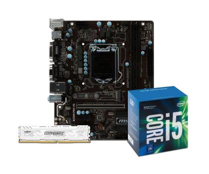 MSI B250M PRO-VD + i5-7400 + Crucial 8GB 2400MHz-391553 - Zdjęcie 1