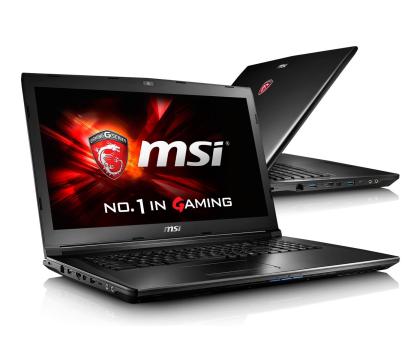 MSI GL72 i7-6700HQ/8GB/1TB GF940MX FHD -295696 - Zdjęcie 1