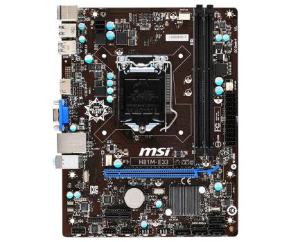 MSI H81M-E33 (H81 PCI-E DDR3)-157408 - Zdjęcie 3