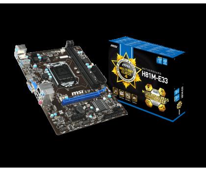 MSI H81M-E33 (H81 PCI-E DDR3)-157408 - Zdjęcie 1