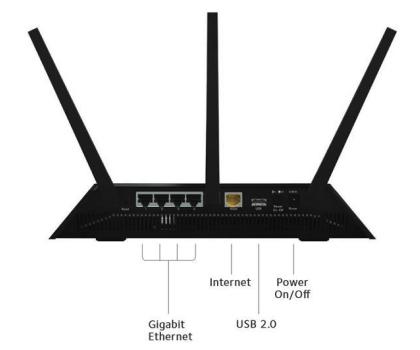 Netgear Nighthawk R7000 (1900Mb/s a/b/g/n/ac, 2xUSB)-173615 - Zdjęcie 6