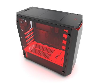 Phanteks Eclipse P400S Tempered Glass (czarny/czerwony)-411811 - Zdjęcie 4