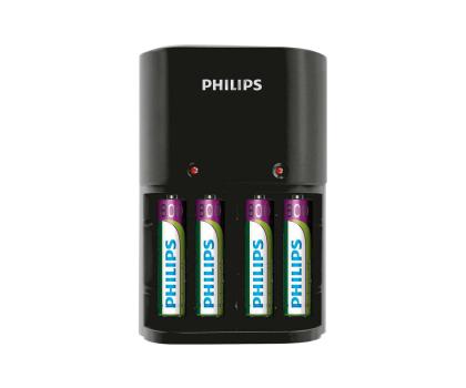 Philips Ładowarka akumulatorów AA / AAA + 4 x AAA 800mAh-379875 - Zdjęcie 1