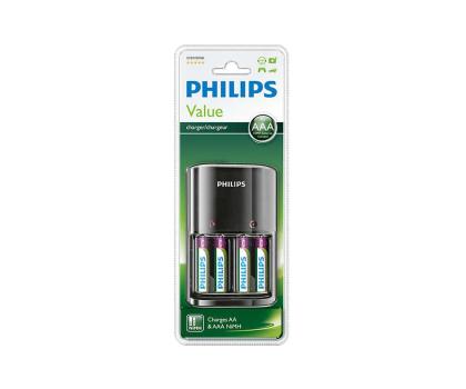 Philips Ładowarka akumulatorów AA / AAA + 4 x AAA 800mAh-379875 - Zdjęcie 2
