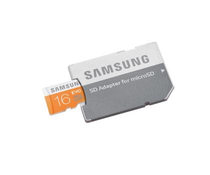 Samsung 16GB microSDHC Evo odczyt 48MB/s + adapter SD-182044 - Zdjęcie 2