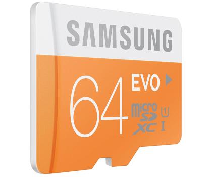 Samsung 64GB microSDXC Evo odczyt 48MB/s + adapter SD-182050 - Zdjęcie 4