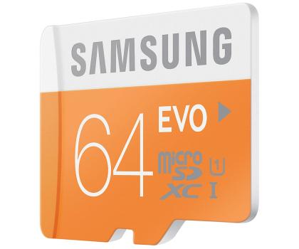 Samsung 64GB microSDXC Evo odczyt 48MB/s + adapter SD-182050 - Zdjęcie 3