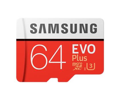 Samsung 64GB microSDXC Evo Plus zapis60MB/s odczyt100MB/s  (MB-MC64GA/EU)