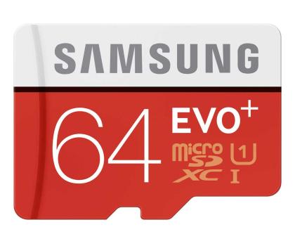 Samsung 64GB microSDXC Evo+ zapis 20MB/s odczyt 80MB/s -241030 - Zdjęcie 1