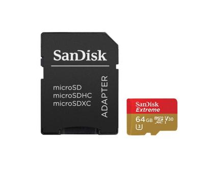 SanDisk 64GB microSDXC Extreme zapis 60MB/s odczyt 90MB/s-329038 - Zdjęcie 2