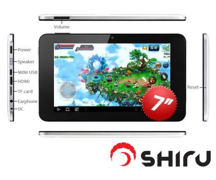 SHIRU Shogun 7 32GB A9/1024MB/32GB/Android 4.0-104778 - Zdjęcie 3