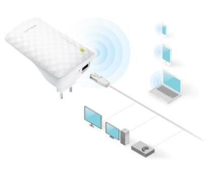 TP-Link RE200 LAN (802.11b/g/n/ac 750Mb/s) plug repeater-209808 - Zdjęcie 6