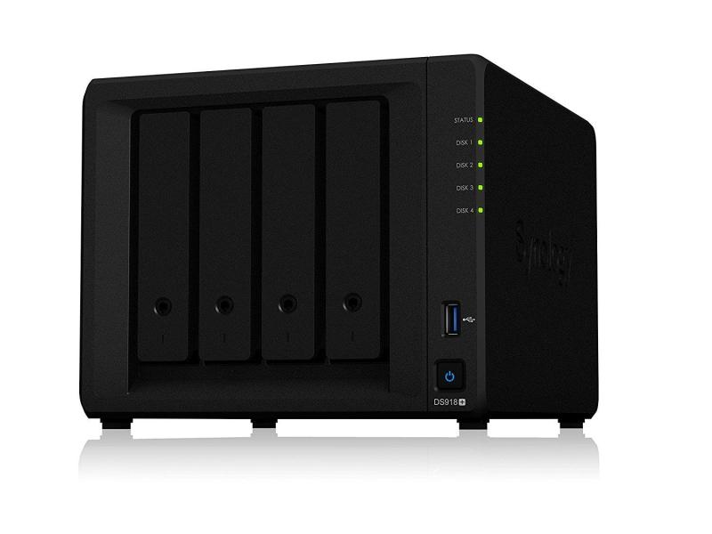 Synology DS918+ (4xHDD, 4x1.5-2,3GHz, 4GB, 2xUSB, 2xLAN)