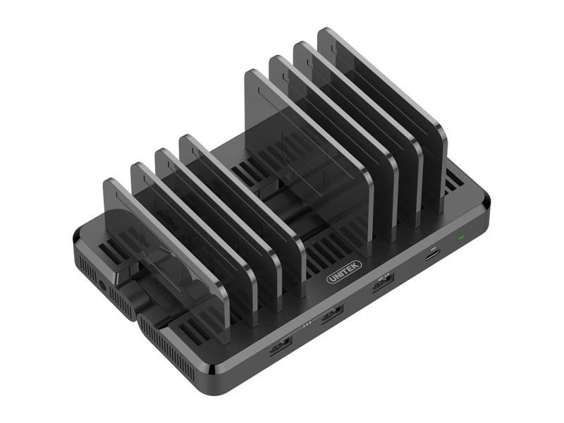 Unitek Stacja 120W (6x USB-A, USB-C PD 60W, 1x QC 3.0)