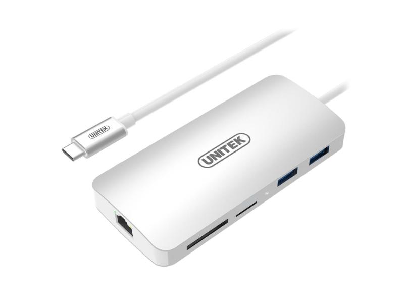 Unitek USB-C - USB, USB-C, RJ-45, HDMI, 4K, PD