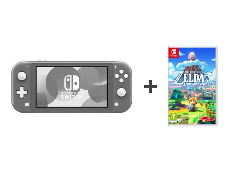Nintendo Switch Lite (Szary) + Zelda: Link's Awakening