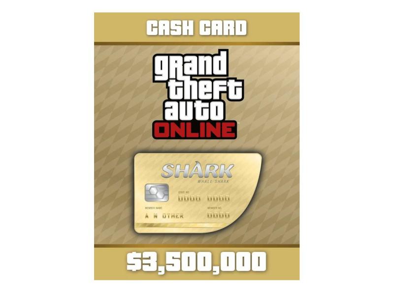PC GTA V Whale Shark Cash Card Social Club ESD