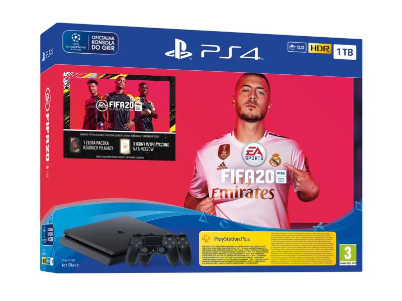 Sony PlayStation 4 Slim 1TB + FIFA 20 + Pad
