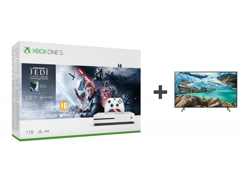 Microsoft Xbox One S + STAR WARS: Upadły Zakon + TV