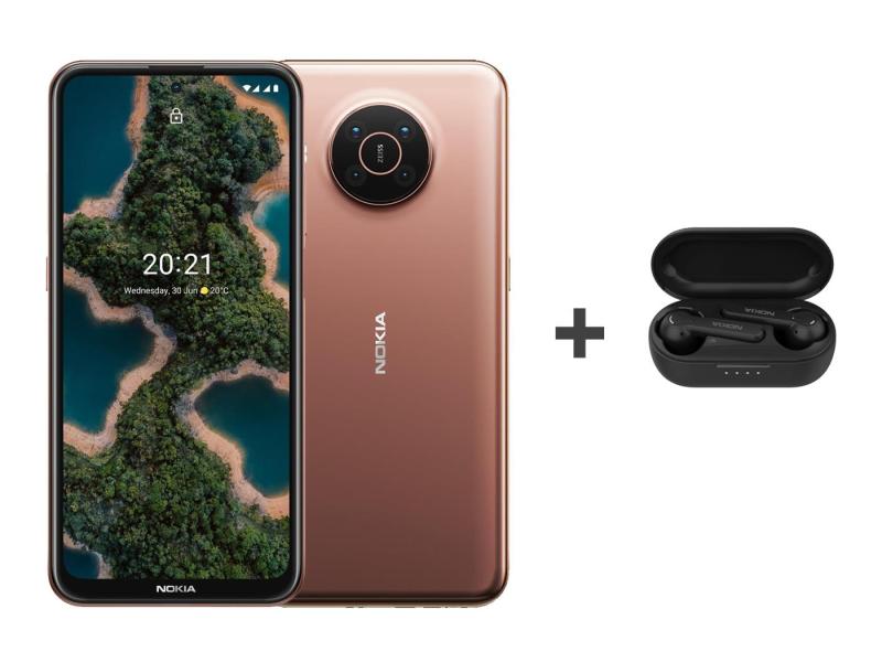 Nokia X20 Dual SIM 8/128 pustynny 5G+Nokia Lite Earbuds