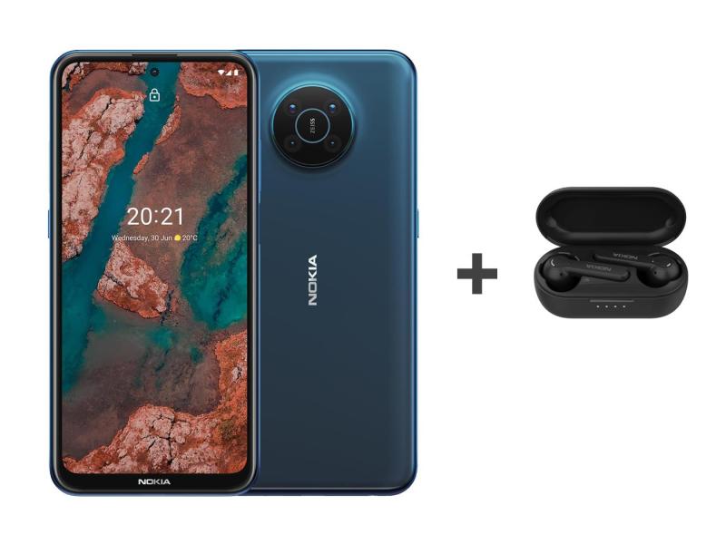 Nokia X20 Dual SIM 8/128 niebieski 5G+Nokia Lite Earbuds