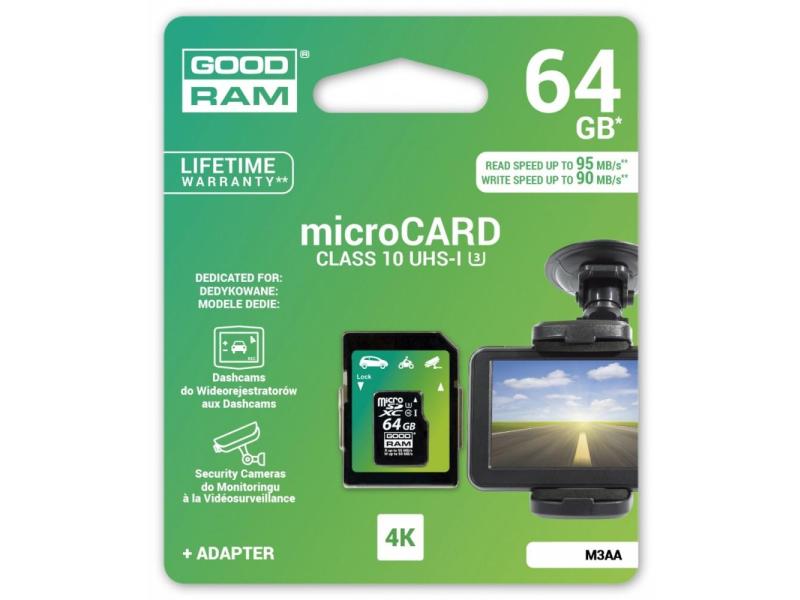 Goodram 64gb Microsdxc Zapis 90mb S Odczyt 95mb S Karty Pamieci