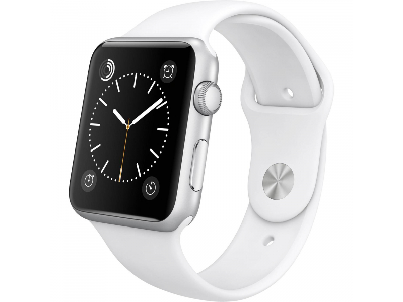 Apple Watch 2 42/Silver Aluminium/White Sport Band ...