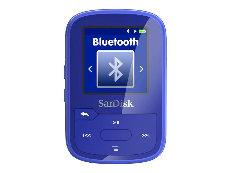 sandisk clip sport plus 16gb niebieski bluetooth tuner fm odtwarzacze mp3 sklep komputerowy. Black Bedroom Furniture Sets. Home Design Ideas