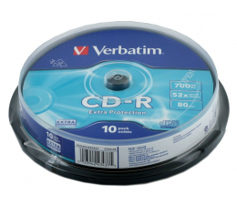 Płyta CD-R Verbatim 700MB/80min. Audio CD 52x DATA LIFE CAKE 10szt.