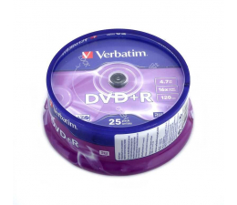 Płyta DVD+R Verbatim 4.7GB 16x (AZO) CAKE 25szt.