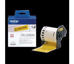 Taśmy do drukarki Brother Taśma ciągła papierowa żółta 62mm (DK22606)