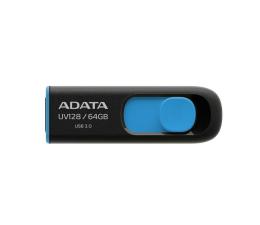 Pendrive (pamięć USB) ADATA 64GB DashDrive UV128 czarno-niebieski (USB 3.1)